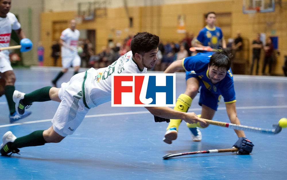 BERLIN - Indoor Hockey World Cup<br /> Kazakhstan - South Africa<br /> foto: Rusten Abrahams <br /> WORLDSPORTPICS COPYRIGHT FRANK UIJLENBROEK