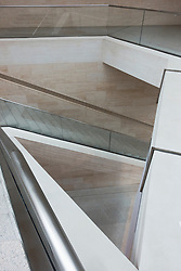 Interior of the new extension to the German History Museum in Berlin, Germany. Architect IM Pei.