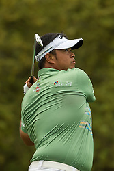 March 23, 2018 - Austin, TX, U.S. - AUSTIN, TX - MARCH 23:  K. Aphibarnrat hits a tee shot during the WGC-Dell Technologies Match Play Tournament on March 22, 2018, at the Austin Country Club in Austin, TX.  (Photo by David Buono/Icon Sportswire) (Credit Image: © David Buono/Icon SMI via ZUMA Press)
