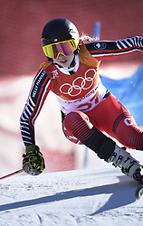 February 15, 2018 - Pyeongchang, South Korea - CANDACE CRAWFORD of Canada on her first run at the Womens Giant Slalom event Thursday, February 15, 2018 at the Yongpyang Alpine Centerl at the Pyeongchang Winter Olympic Games.  Photo by Mark Reis, ZUMA Press/The Gazette (Credit Image: © Mark Reis via ZUMA Wire)