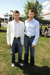 Left to right, brothers TOM AIKENS and ROBERT AIKENS at the Cartier International Polo at Guards Polo Club, Windsor Great Park on 27th July 2008.<br /> <br /> NON EXCLUSIVE - WORLD RIGHTS