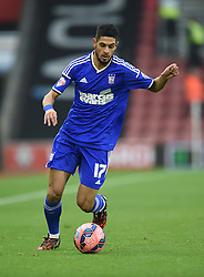 Ipswich Town's Kevin Bru in action against Southampton - Photo mandatory by-line: Paul Knight/JMP - Mobile: 07966 386802 - 04/01/2015 - SPORT - Football - Southampton - St Mary's Stadium - Southampton v Ipswich Town - FA Cup Third Round