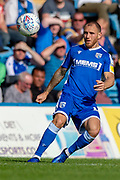 Gillingham FC defender Barry Fuller (12)  during the EFL Sky Bet League 1 match between Gillingham and Wycombe Wanderers at the MEMS Priestfield Stadium, Gillingham, England on 14 September 2019.