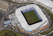 aerial photograph of   Reading Stadium  in  Reading Berkshire  England UK