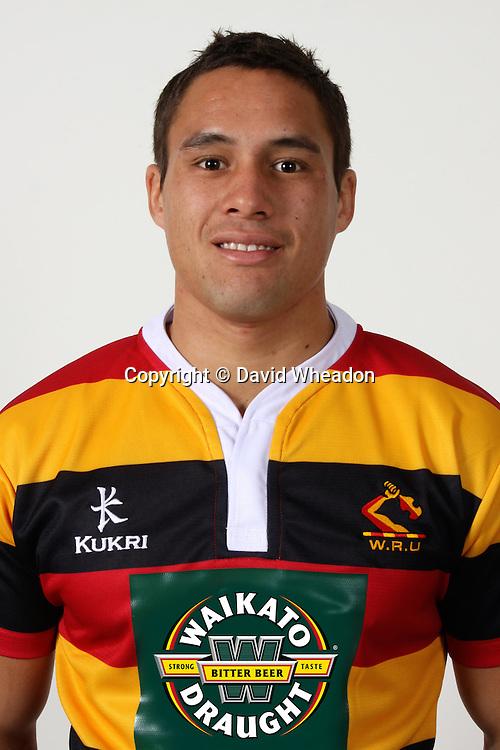 Jackson Willison; Headshot; Waikato Mooloo Team; 13 July 2010; Waikto Stadium; Hamilton New Zealand; 2011 ITM Cup; Rugby Union - Credit David Wheadon; Sportpix.co.nz