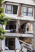Mercure hotel located near the waterfront of Talise beach was badly damaged when an earthquake of 7.5 earthquake magnitude hit off the coast of Donggala, Palu Sulawesi Central, Indonesia on Sept. 28th causing a tsunami.
