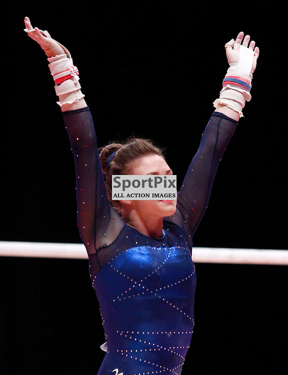 2015 Artistic Gymnastics World Championships being held in Glasgow from 23rd October to 1st November 2015...Ruby Harrold (Great Britain) competing in the Uneven Bars competition of the Womens Team Final...(c) STEPHEN LAWSON | SportPix.org.uk