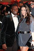 Corneille and Sofia de Medeiros arrive for the NRJ Music Awards 2012 at Palais des Festivals on January 28, 2012 in Cannes.Corneille et Sofia de Medeiros arrivent aux NRJ Music awards 2012 au Palais des Festivals le Janvier 28 2012 à Cannes.