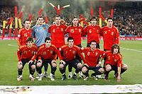 Fotball<br /> Spania v Sverige<br /> 17.11.2007<br /> Foto: Gepa/Digitalsport<br /> NORWAY ONLY<br /> <br /> Lagbilde Spania<br /> Hinten v.l.: Andres Iniesta, Iker Casillas, Carlos Machena, Sergio Ramos, David Albelda, Joan Capdevila  Vorne v.l.: David Silva, Cesc Fabregas, David Silva, Xavi Hernandez, Carles Puyol (ESP)