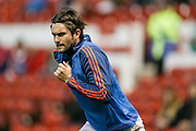 Nottingham Forest midfielder Henri Lansbury  during the Sky Bet Championship match between Nottingham Forest and Leeds United at the City Ground, Nottingham, England on 27 December 2015. Photo by Simon Davies.