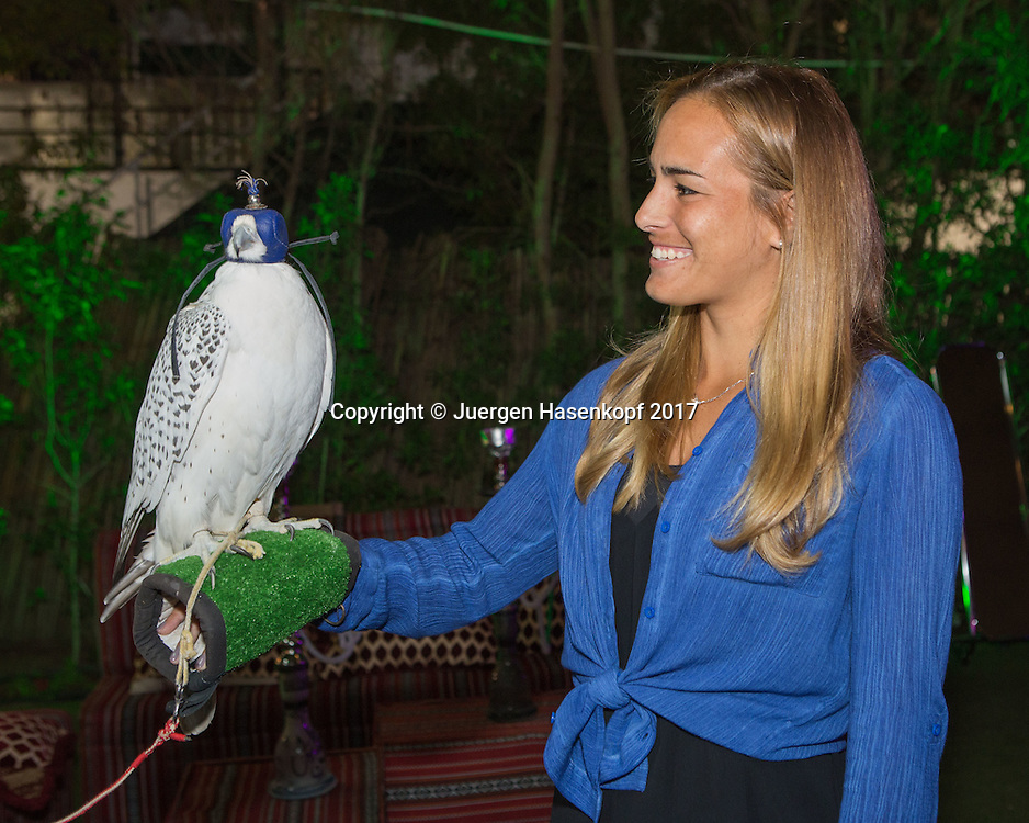 MONICA PUIG (PUR), Dubai WTA Players Party<br /> <br /> Tennis - Dubai Duty Free Tennis Championships - WTA -  Players Party - Dubai -  - United Arab Emirates  - 22 February 2017. <br /> &copy; Juergen Hasenkopf