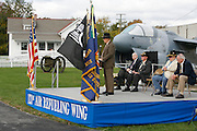 Lieutenant Colonel Retired Loel Ewart addresses an audience of Veterans and their families during the 9th Cavalry Monument rededication ceremony. Gathering of Warriors reunion attended by Vietnam War Veterans of the 1st Squadron, 9th Cavalry, 1st Cavalry Divison.