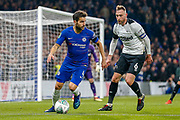 Chelsea midfielder Cesc Fabregas (4) on the ball during the EFL Cup 4th round match between Chelsea and Derby County at Stamford Bridge, London, England on 31 October 2018.