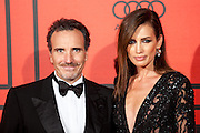 Marco Severini and Nieves Alvarez during the photocall of Vanity Fair 5th Anniversary party In Madrid