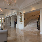 DORAL, FLORIDA, JANUARY 10, 2018<br /> Photo of the area to the right of the main entrance to the reception desk at the Trump National Doral Miami. No photos of President Donald J. Trump visible.<br /> (Photo by Angel Valentin/Freelance)
