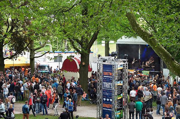 Nederland, Nijmegen, 26-4-2014Eerste, 1e Koningsdag. Muziekfestival Oranjepop in het Hunnerpark.muziek,popmuziek,popfestival.Foto: Flip Franssen/Hollandse Hoogte