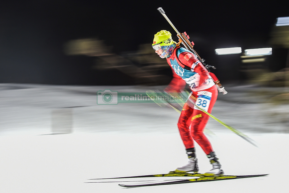 February 12, 2018 - Pyeongchang, Gangwon, South Korea - Zhang Yan of China competing at Women's 10km Pursuit, Biathlon, at olympics at Alpensia biathlon stadium, Pyeongchang, South Korea. on February 12, 2018. Ulrik Pedersen/Nurphoto  (Credit Image: © Ulrik Pedersen/NurPhoto via ZUMA Press)