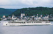 "The ""River Cloud"" passing the medieval town of Boppard on the Rhine."