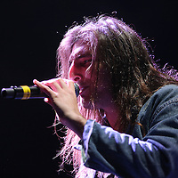 Singer Josh Cocktail from the band Radical Something, sings during the Verge Campus Spring Tour concert at the CFE Arena on the University of Central Florida campus, Tuesday, April 8, 2014, in Orlando, Florida.  (AP Photo/Alex Menendez)