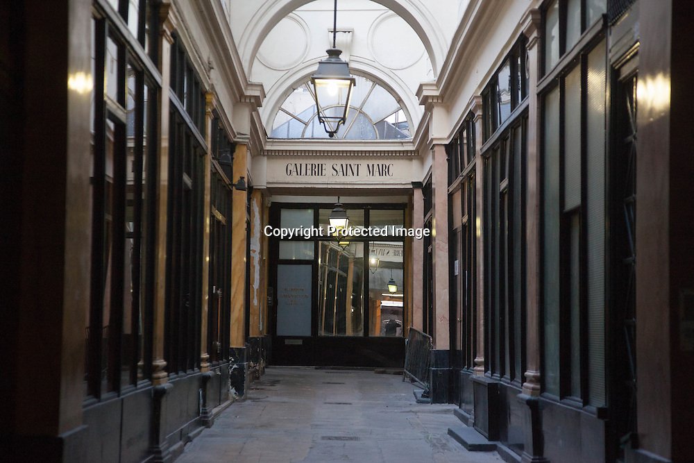 France, Paris. Historical Covered passages of Paris, Saint Marc passage