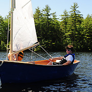 Sailing lesson day of the UNH Family Boat Building Weekend program, 2012