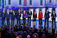 Democratic presidential candidates attend the first primary debate for the 2020 elections at the Adrienne Arsht Center for the Performing Arts in downtown Miami on Wednesday, June 26, 2019.