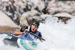 Alja KOZOROG of Slovenia during the Canoe Single (WC1) Womens Final race of 2019 ICF Canoe Slalom World Cup 4, on June 30, 2019 in Tacen, Ljubljana, Slovenia. Photo by Sasa Pahic Szabo / Sportida