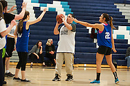 Mount Mansfield's Matthew Shand (22) shoots the ball during the unified basketball game between Colchester and Mount Mansfield at MMU High School on Monday afternoon April 25, 2016 in Jericho. (BRIAN JENKINS/for the FREE PRESS)