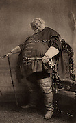 Herbert Beerbohm Tree (1853-1917) English actor-manager.  Founder of the Royal Academy of Dramatic Art (RADA). Here in 1896 as Falstaff in  'Henry VI', Part I.  by William Shakespeare. Photogravure.