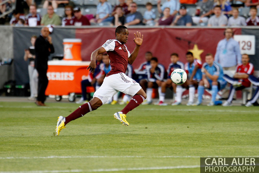 May 25th, 2013 Commerce City, CO - Colorado Rapids forward Deshorn Brown (26) chases after a pass in the first half of action in the MLS match between Chivas USA and the Colorado Rapids at Dick's Sporting Goods Park in Commerce City, CO