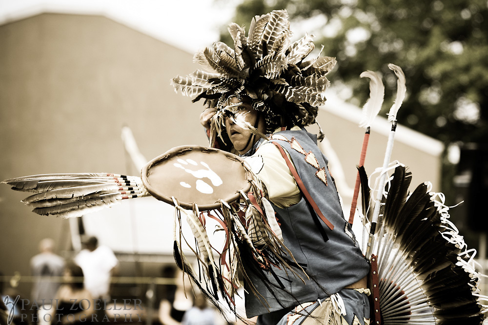 "James ""Spotted Hawk"" Creel, of Summerville, takes part in a warrior dance during the 2011 Annual Edisto Indian Natchez-Kusso Powwow in Ridgeville."