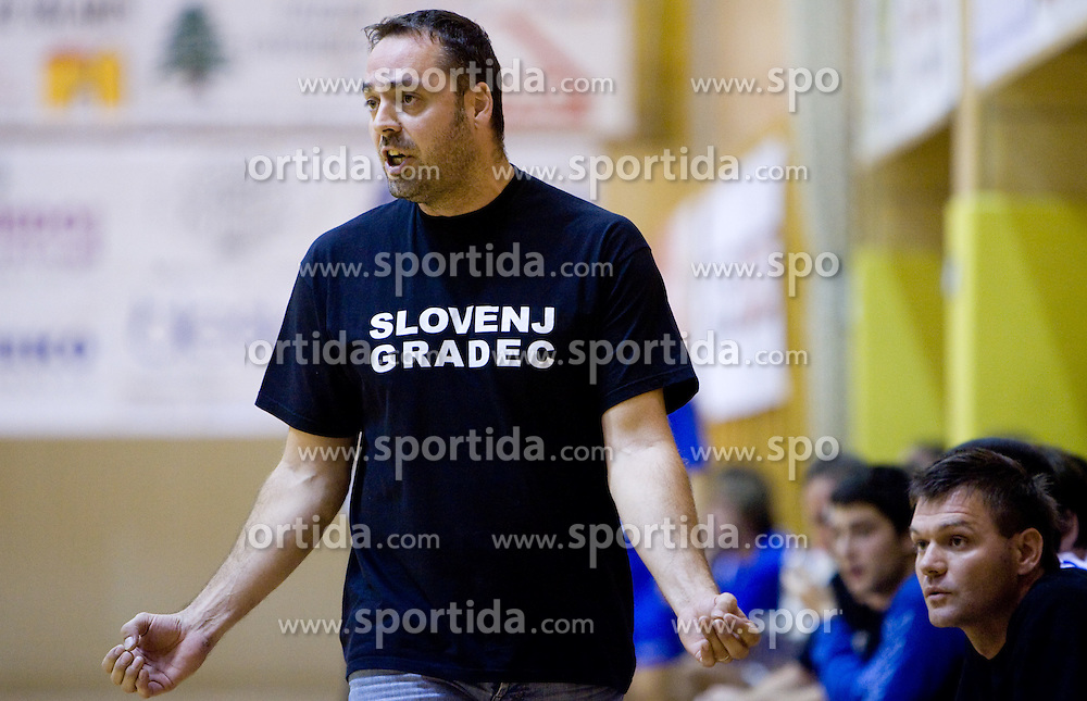 Head coach of Prevent Alen Mihalj at the handball match between RD Ribnica Riko-hise and RK Prevent of MIK 1st League 2009 - 2010,  on October 04, 2009, in Ribnica, Slovenia.   (Photo by Vid Ponikvar / Sportida)