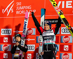 17.03.2019, Vikersundbakken, Vikersund, NOR, FIS Weltcup Skisprung, Raw Air, Vikersund, Einzelbewerb, Herren, Siegerehrung, im Bild 2. Platz Ryoyu Kobayashi (JPN), 3. Platz Stefan Kraft (AUT) // 2nd place Ryoyu Kobayashi of Japan 3rd place Stefan Kraft of Austria during the winner ceremony for the individual competition of the 4th Stage of the Raw Air Series of FIS Ski Jumping World Cup at the Vikersundbakken in Vikersund, Norway on 2019/03/17. EXPA Pictures © 2019, PhotoCredit: EXPA/ JFK
