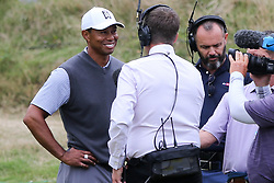 March 29, 2019 - Austin, Texas, United States - Tiger Woods speaks to the media after winning his match on the 16th hole during the third round of the 2019 WGC-Dell Technologies Match Play at Austin Country Club. (Credit Image: © Debby Wong/ZUMA Wire)