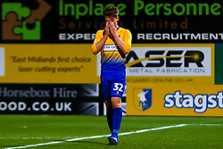 Danny Rose of Mansfield Town cuts a dejected look after failing to hit the target - Mandatory by-line: Ryan Crockett/JMP - 17/11/2018 - FOOTBALL - One Call Stadium - Mansfield, England - Mansfield Town v Port Vale - Sky Bet League Two