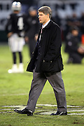 Kansas City Chiefs Chairman and CEO Clark Hunt walks on the field for pregame warmups before the NFL week 12 regular season football game against the Oakland Raiders on Thursday, Nov. 20, 2014 in Oakland, Calif. The Raiders won their first game of the season 24-20. ©Paul Anthony Spinelli