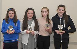 Westport Athletic Club Awards <br />Superstar winners Aoibhinn Hopkins, Anne O'Donnell, Eva Ryall and Eabha Carney.<br /> Pic Conor McKeown