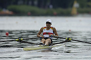 Poznan, POLAND.  2006, FISA, Rowing, World Cup, GER  W1X Julia HEITMANN, moves  away from  the  start, on the Malta  Lake. Regatta Course, Poznan, Thurs. 15.05.2006. © Peter Spurrier   .[Mandatory Credit Peter Spurrier/ Intersport Images] Rowing Course:Malta Rowing Course, Poznan, POLAND