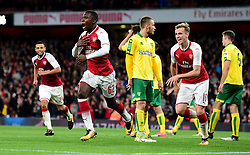 Edward Nketiah of Arsenal celebrates - Mandatory by-line: Alex James/JMP - 24/10/2017 - FOOTBALL - Emirates Stadium - London, England - Arsenal v Norwich City - Carabao Cup