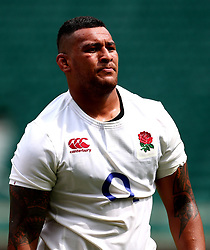 Nathan Hughes of England takes part in training at Twickenham ahead of the upcoming tour of Argentina - Mandatory by-line: Robbie Stephenson/JMP - 02/06/2017 - RUGBY - Twickenham - London, England - England Rugby Training