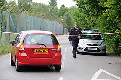 © Licensed to London News Pictures. 10/06/2013<br /> Police on scene protecting Darul Uloom School today (10.06.2013) after a suspicious fire.  Four teenagers have been arrested.<br /> Police were called to Darul Uloom School, Foxbury Avenue,Chislehurst, Kent  at 11.50pm on Saturday (08.06.2013)<br /> Photo credit :Grant Falvey/LNP