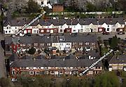 aerial photograph of Ringley Bolton Lancashire England UK