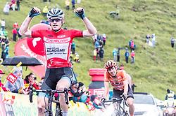 12.07.2019, Kitzbühel, AUT, Ö-Tour, Österreich Radrundfahrt, 6. Etappe, von Kitzbühel nach Kitzbüheler Horn (116,7 km), im Bild v.l.: Gesamtsieger Ben Hermans (Israel Cycling Academy, BEL), Riccardo Zoidl (CCC Team, AUT) // v.l.: Gesamtsieger Ben Hermans (Israel Cycling Academy, BEL), Riccardo Zoidl (CCC Team, AUT) during 6th stage from Kitzbühel to Kitzbüheler Horn (116,7 km) of the 2019 Tour of Austria. Kitzbühel, Austria on 2019/07/12. EXPA Pictures © 2019, PhotoCredit: EXPA/ JFK