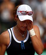 French Open 2010, Roland Garros, Paris, Frankreich,Sport, Tennis, ITF Grand Slam Tournament,  Samantha Stosur (AUS) nach ihrem Sieg,Emotion,....Foto: Juergen Hasenkopf..