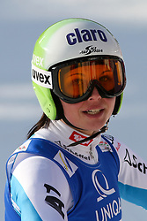 14.02.2013, Planai, Schladming, AUT, FIS Weltmeisterschaften Ski Alpin, Riesenslalom,  Damen, 2. Durchgang, im Bild Anna Fenninger (AUT) // Anna Fenninger of Austria reacts after 2nd run of ladies Giant Slalom at the FIS Ski World Championships 2013 at the Planai Course, Schladming, Austria on 2013/02/14. EXPA Pictures © 2013, PhotoCredit: EXPA/ Martin Huber