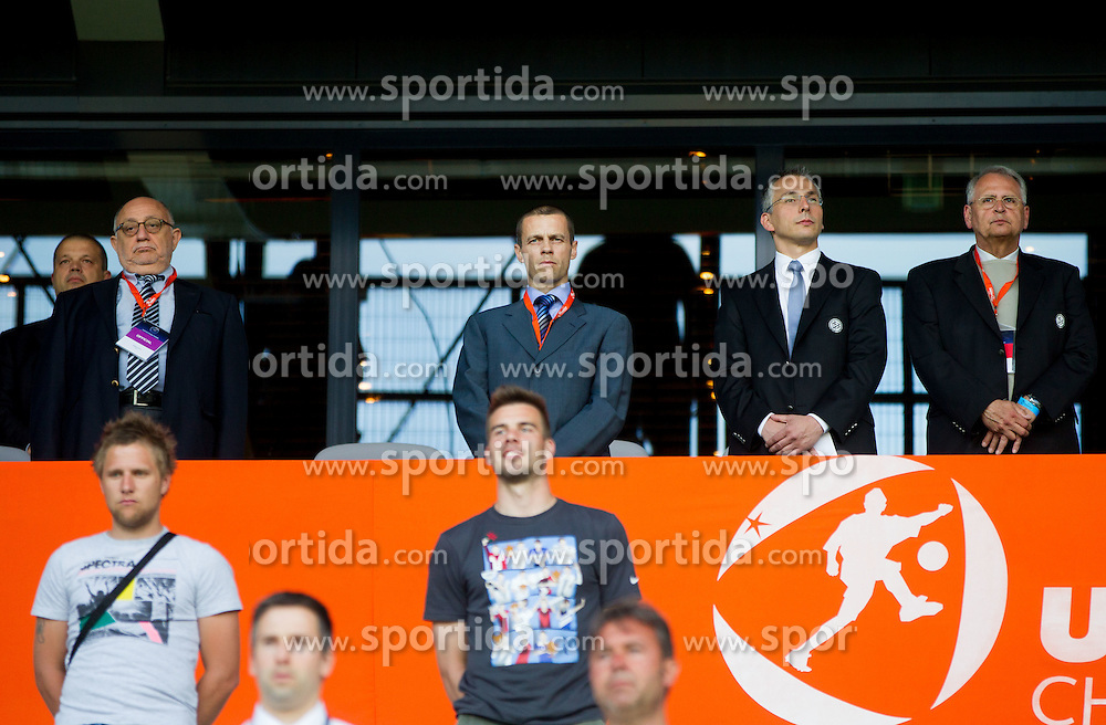 Aleksander Ceferin, president of NZS during the UEFA European Under-17 Championship Group A match between Germany and France on May 10, 2012 in SRC Stozice, Ljubljana, Slovenia. (Photo by Vid Ponikvar / Sportida.com)