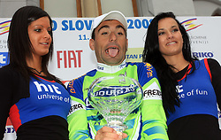 Winner Francesco Chicchi of Italia (Liquigas) after last 4th stage of the 15th Tour de Slovenie from Celje to Novo mesto (157 km), on June 14,2008, Slovenia. (Photo by Vid Ponikvar / Sportal Images)/ Sportida)