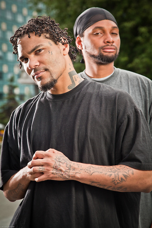 Local rapper, De'Onte Williams and his brother, Luke Honeycutt, Town Square, Anchorage