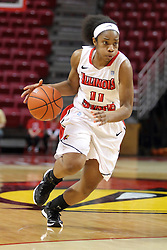 04 January 2015:  Stekara Hall guarded by Dyaba Pierre during an NCAA MVC (Missouri Valley Conference) women's basketball game between the Southern Illinois Salukis and the Illinois Sate Redbirds at Redbird Arena in Normal IL