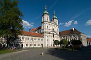 Basilika with square. Waldsassen. Bavaria. Germany.